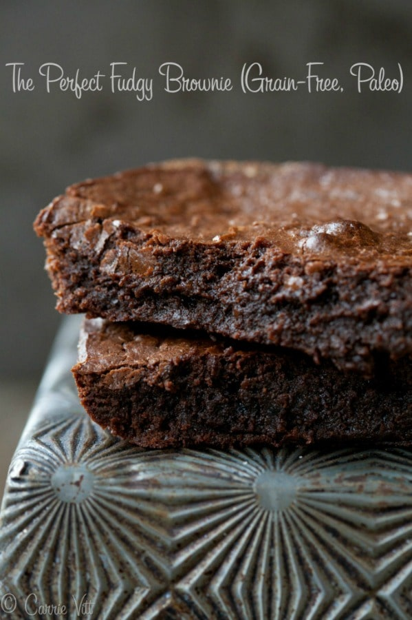 The Perfect Fudgy Brownie (Grain-Free, Paleo)