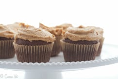 Chocolate Cupcakes with Peanut Butter Frosting Horizontal Small