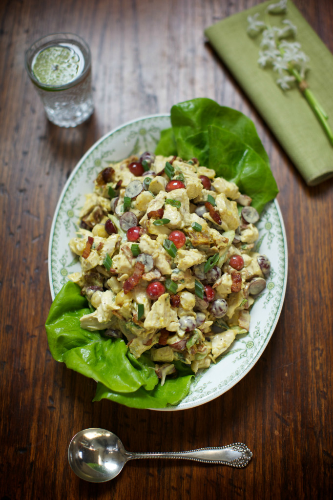 I love this classy chicken salad with dates and walnuts. The combination of fruit, chicken and mayo is dynamite!