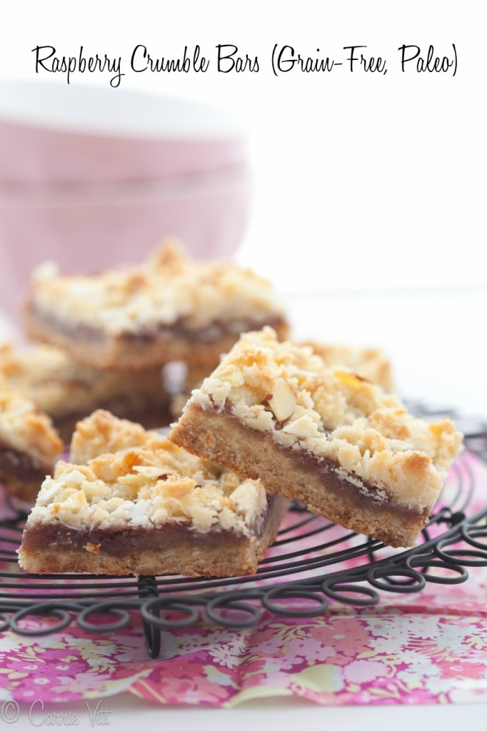 Raspberry Crumble Bars via DeliciouslyOrganic.net (Paleo, Grain-Free) Grain free breakfast bars Grain free breakfast cookies All delicious all grain-free, wheat-free and gluten-free with some dairy-free and sugar-free, too ☺♥☺ #carbswitch carbswitch.com Please Repin :)