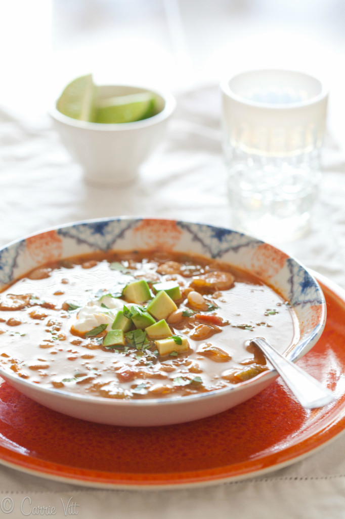 White Bean Chicken Chili (Grain-Free) via DeliciouslyOrganic.net