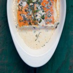 Thumbnail image for Salmon Baked in Cream with Sweet Bay, Thyme and Dill; & The Nourished Kitchen