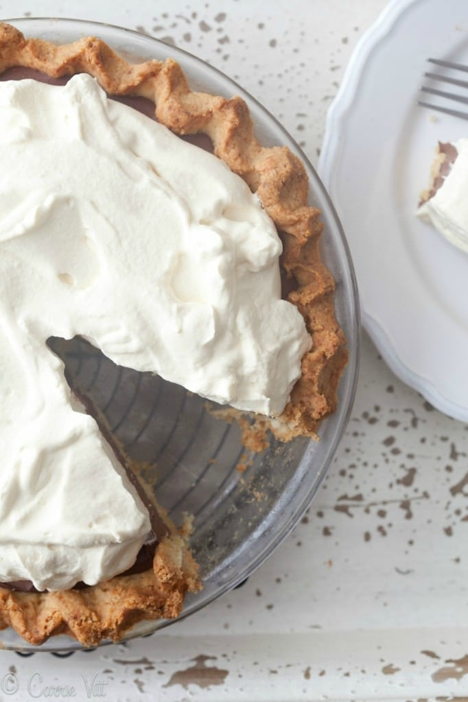 Chocolate Pudding Pie (Grain-Free, Paleo) via DeliciouslyOrganic.net