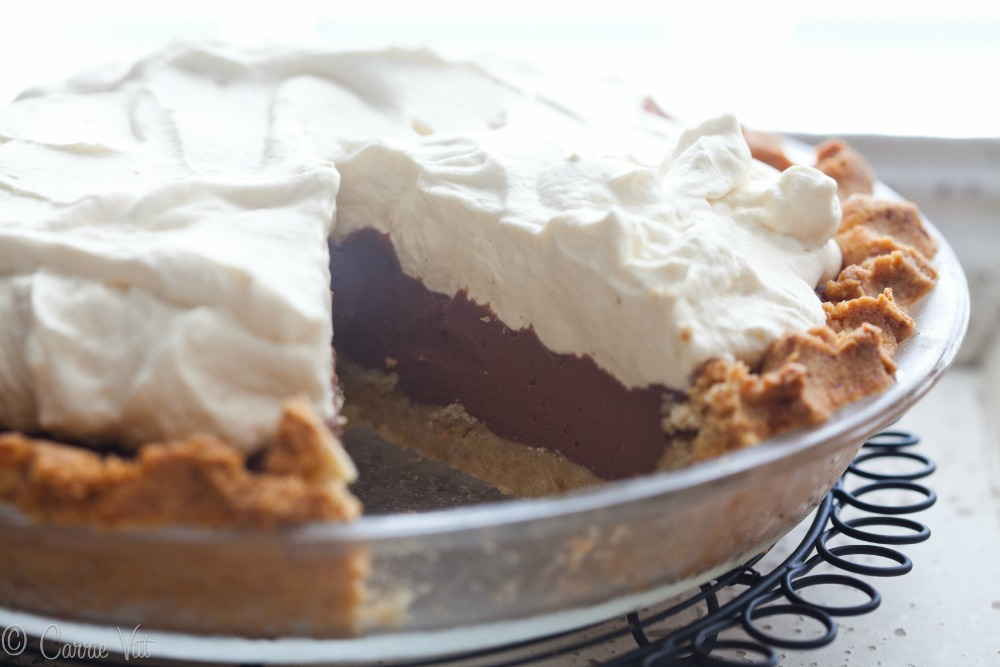 Chocolate pudding pie is a classic dessert that is always a crowd ...
