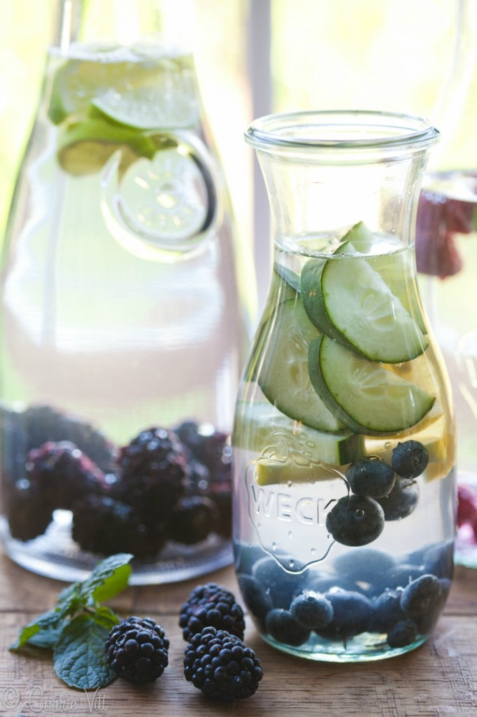 I chop up lemons and a cucumber, put them in a pitcher with water and put it in the fridge to chill. As I drink the water, I add more so I can have flavored water for several days. Not a fan of that combo? Try one of these 15 flavored water recipes!