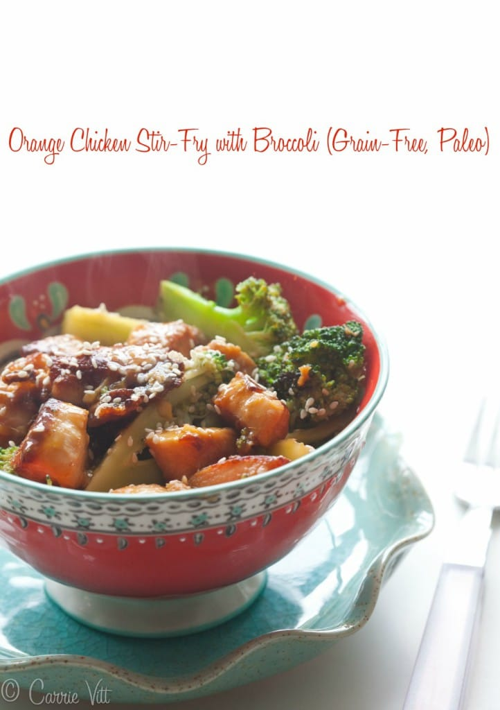 Orange Chicken Recipe (Grain-Free, Paleo) via DeliciouslyOrganic.net