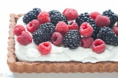 Berries and Cream Tart (Grain-Free, Paleo) via DeliciouslyOrganic.net