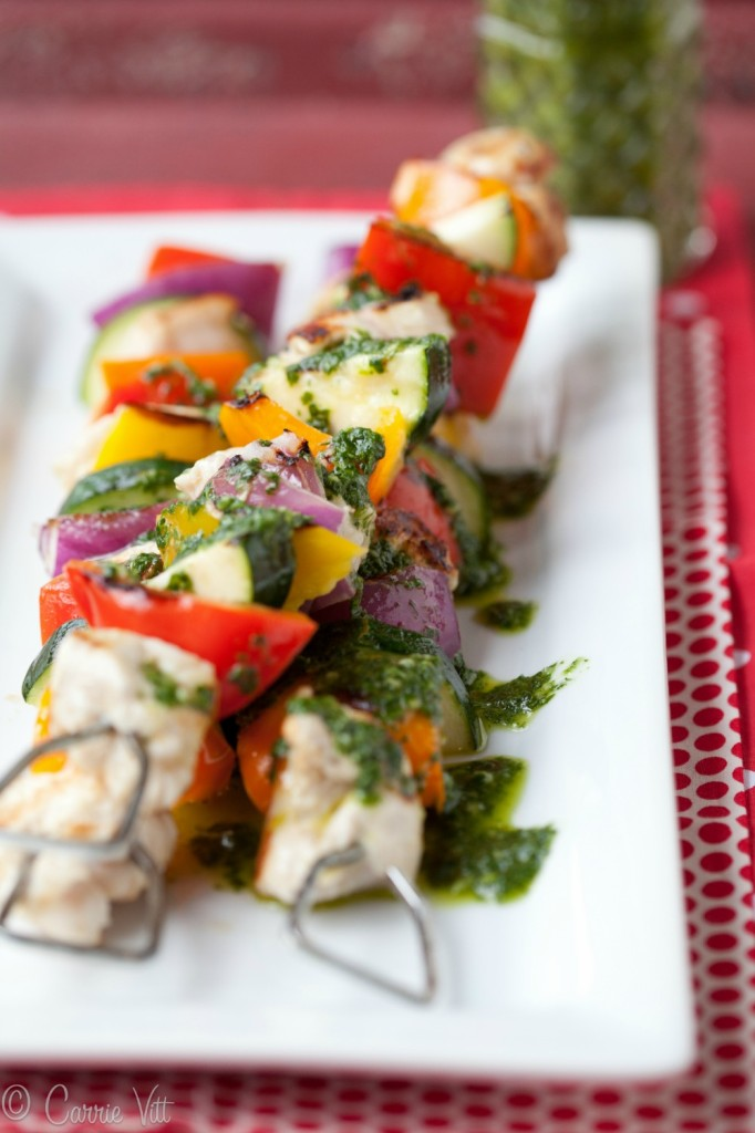 Kabobs are a great easy meal because they can be prepared quickly, you can use a variety of meats and vegetables and they make for such a colorful presentation.