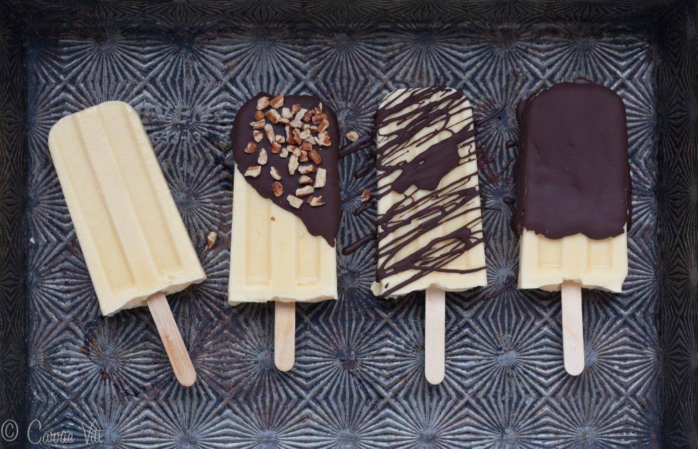 Vanilla Pudding Pops with Homemade Magic Shell | DeliciouslyOrganic ...
