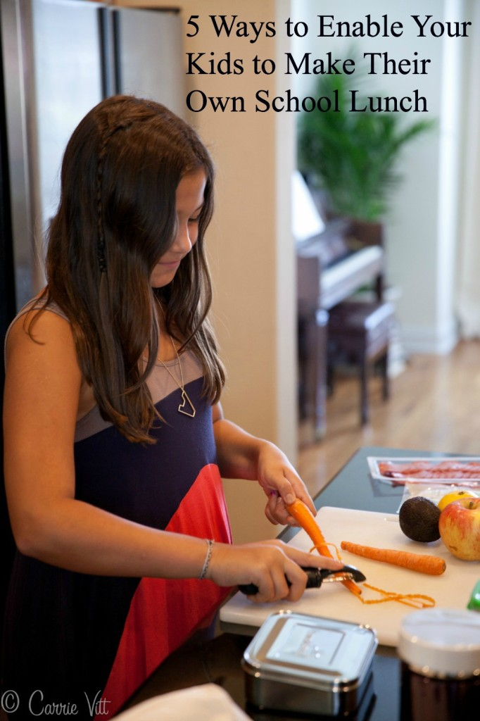 I want to encourage you to bring your kids into your kitchen, give them the tools and resources, and watch them start packing their own lunches. I sat down with my girls and we came up with five top tips to help you teach your kids to pack their own lunches.