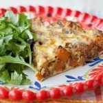 Frittata with Caramelized Onions, Sausage and Sweet Potato (Paleo)