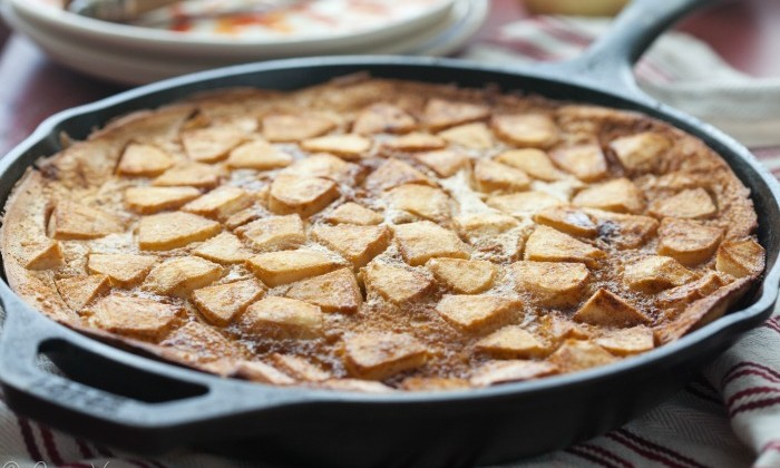 Apple Pancake (Grain Free, Paleo)   DeliciouslyOrganic.net
