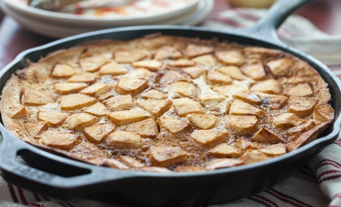 Apple Pancake (Grain Free, Paleo) | DeliciouslyOrganic.net