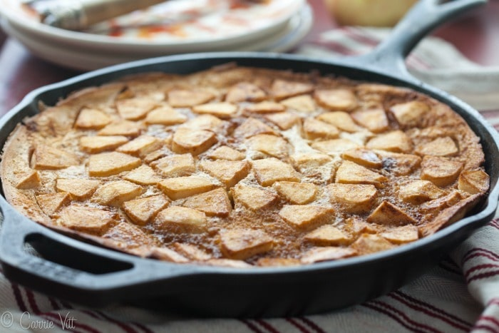 This apple pancake is simple to make and provides a light and sweet treat for breakfast.