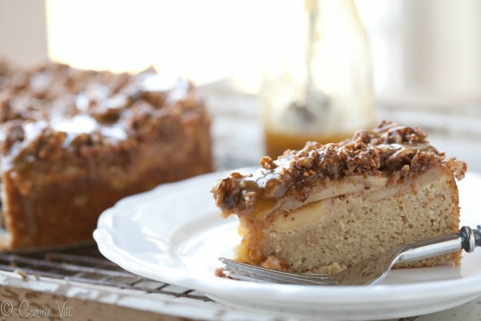 Caramel Apple Coffee Cake | DeliciouslyOrganic.net (Grain-Free)