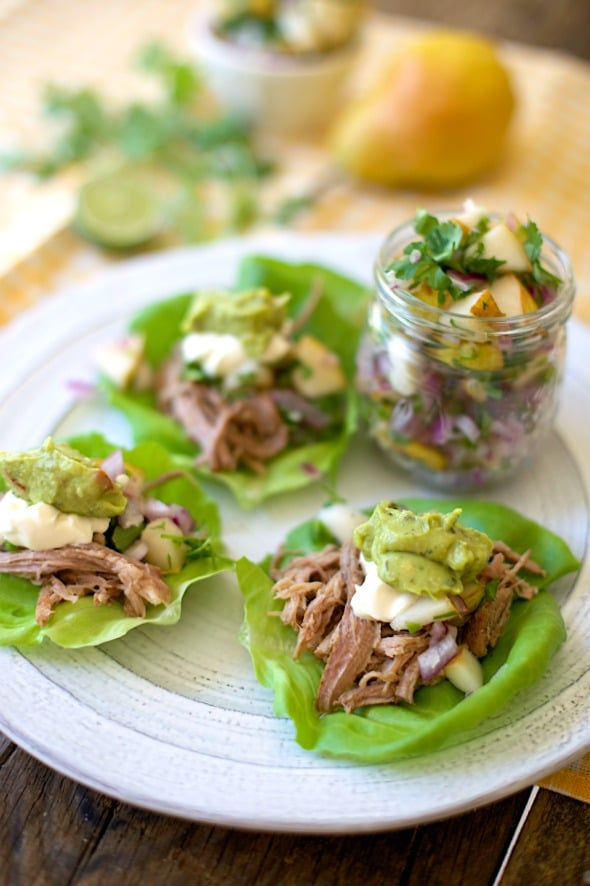 Shredded Pork Tacos #grainfree #paleo