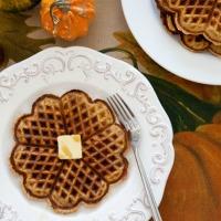 Pumpkin Spice Waffles (Grain-Free, Paleo)
