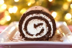 Chocolate Swiss Roll Cake H