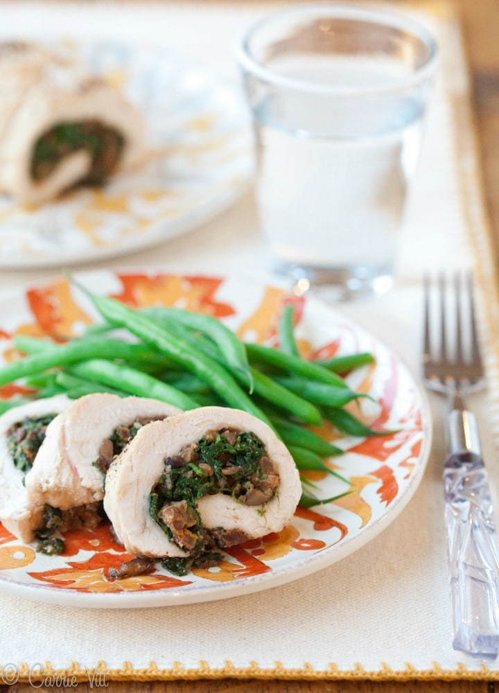 I've always been a fan of turkey roulade. I love the impressive presentation and the flexibility to fill the meat with a variety of vegetables and spices.