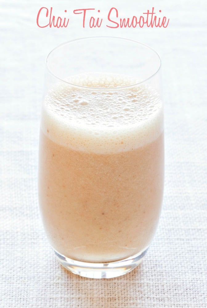 This chai tai smoothie from The Blender Girl Smoothies app is just so amazing you'll want to make it all the time!