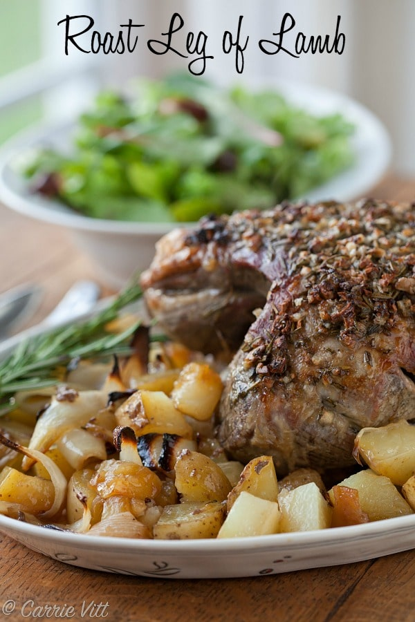 The prep for this roast leg of lamb is super simple! Add a side salad and you've got a delicious meal for Sunday dinner or for company.