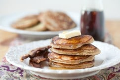 Apple Cider Pancakes Recipe via DeliciouslyOrganic.net #grainfree #recipe