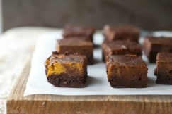 Fudgy Pumpkin Brownies via DeliciouslyOrganic.net #grainfree #paleo #recipe
