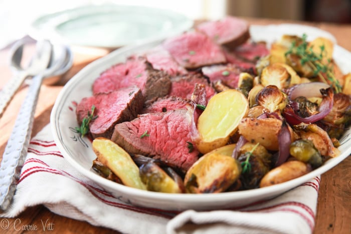 Roast Beef Tenderloin makes an appearance at only those truly special occasions. It's not a cheap dinner, so it's incredibly important you cook it correctly. We want to end up with a moist, juicy, tender piece of meat.