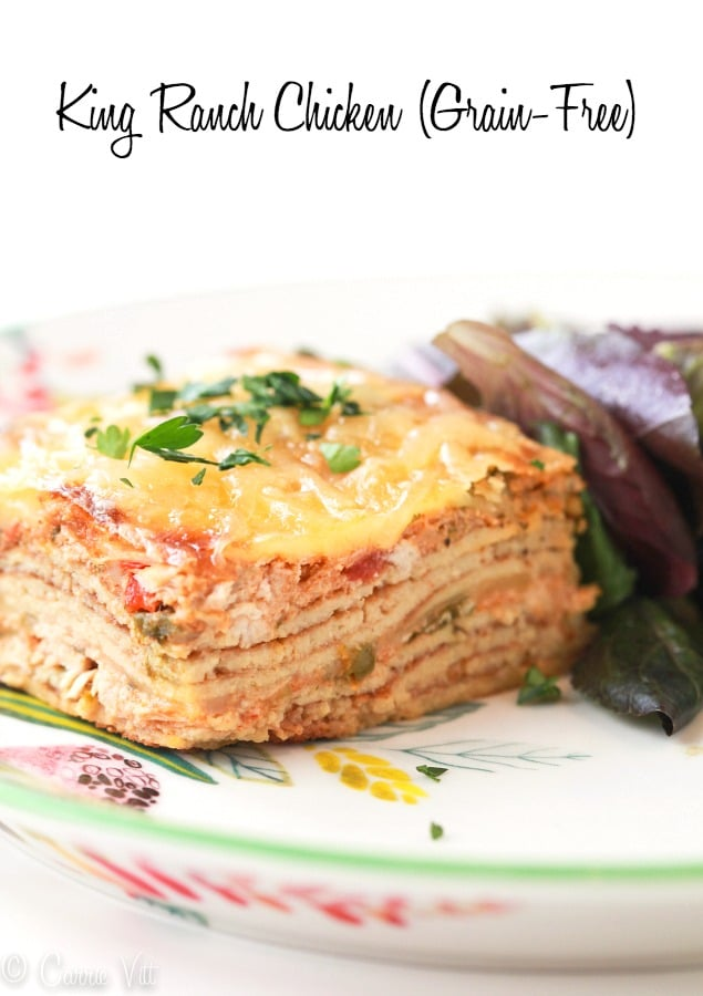 This king ranch chicken recipe takes me back to my childhood. This freezes well and parts of it can be prepped ahead of time!