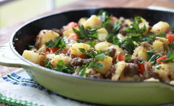 Sausage Hash with Carrots