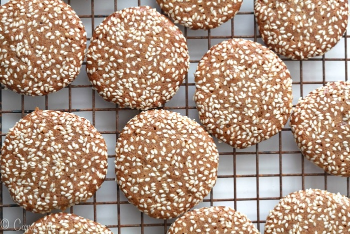 Sesame Cookies Recipe via DeliciouslyOrganic.net #grianfree #recipe