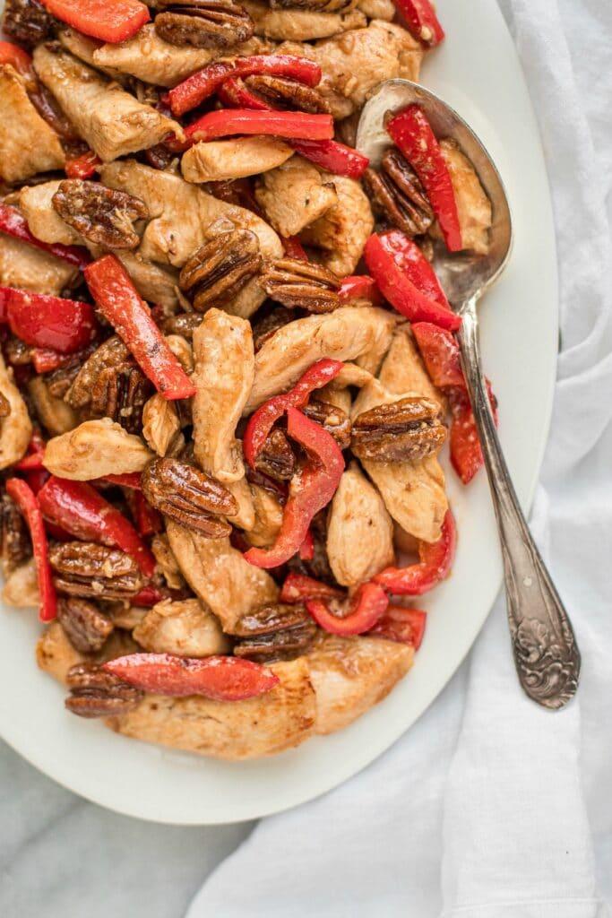 Pecan Chicken Stir Fry Recipe (Grain-Free, Paleo)
