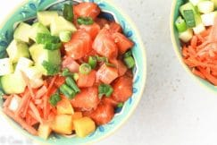 Salmon Poke Bowl Recipe via DeliciouslyOrganic.net #paleo #recipe