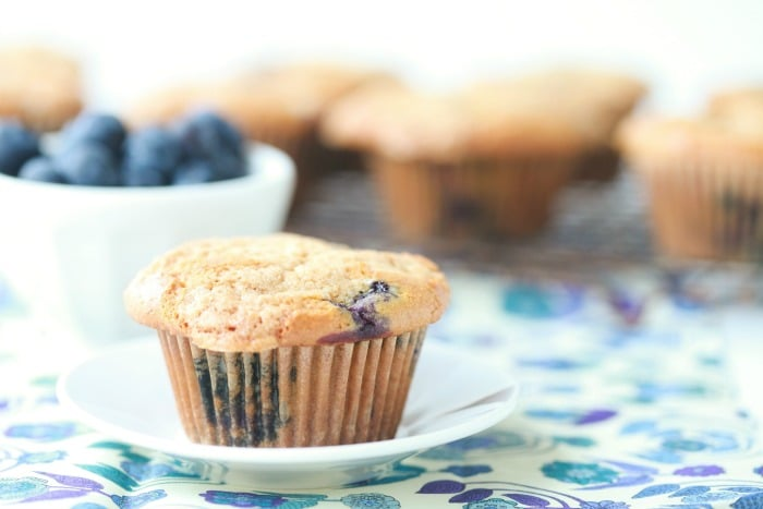 Grain-Free Blueberry Streusel Muffins via DeliciouslyOrganic.net