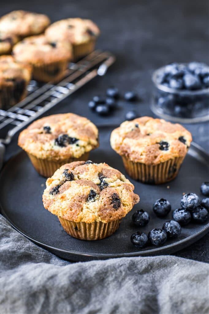 Blueberry Streusel Muffin Recipe (Grain-Free)