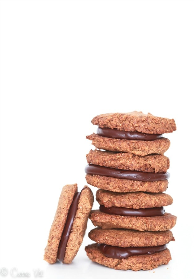 Flourless Almond Butter and Chocolate Sandwich Cookies (Grain-Free ...