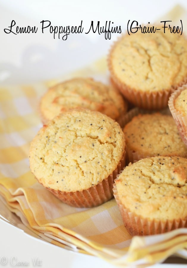 Grain-Free Lemon Poppy Seed Muffins are easy-to-make muffins that will please just about everyone at the breakfast table.
