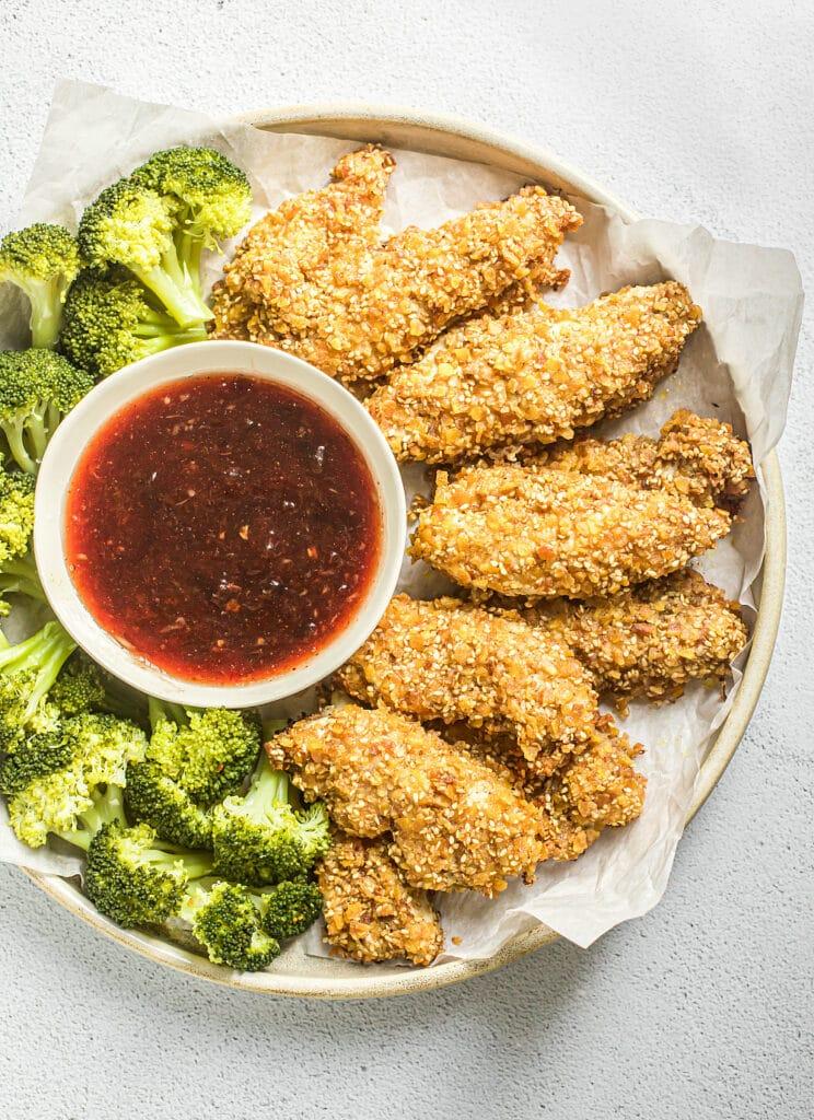 Sesame Chicken with Plum Sauce (Grain-Free)