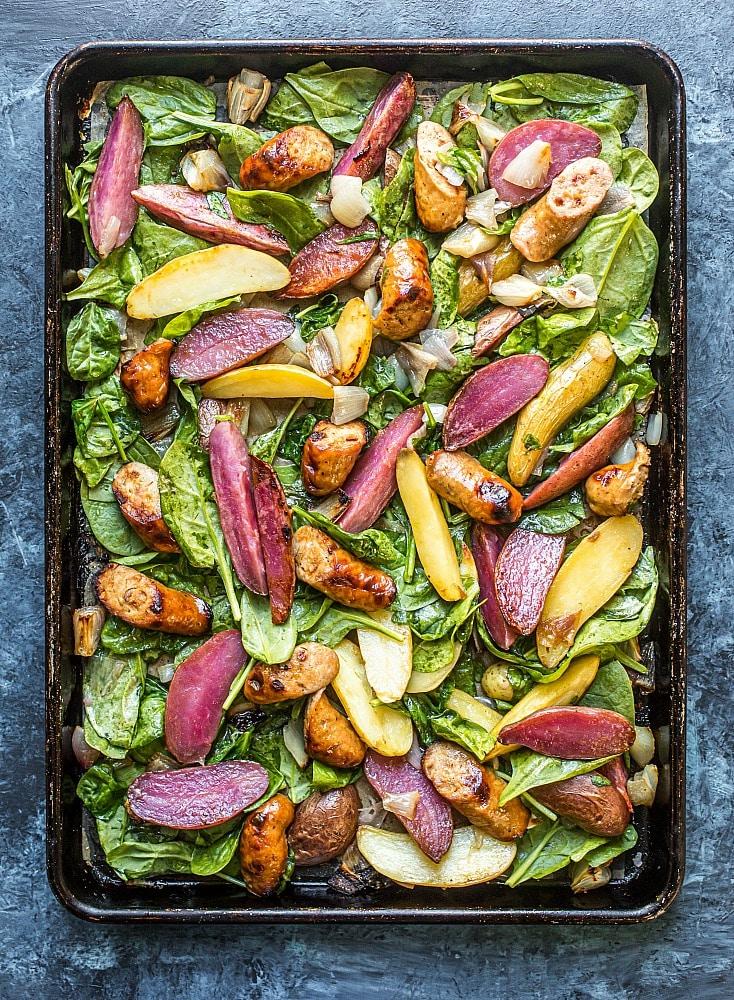 Sausage, Potato, and Spinach Sheet-Pan Dinner (Grain-Free)