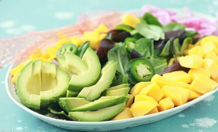 Avocado, Mango and Pickled Onion Salad with Jalapeño Vinaigrette