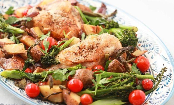 Easy One Pan Chicken, Potato and Broccoli Recipe
