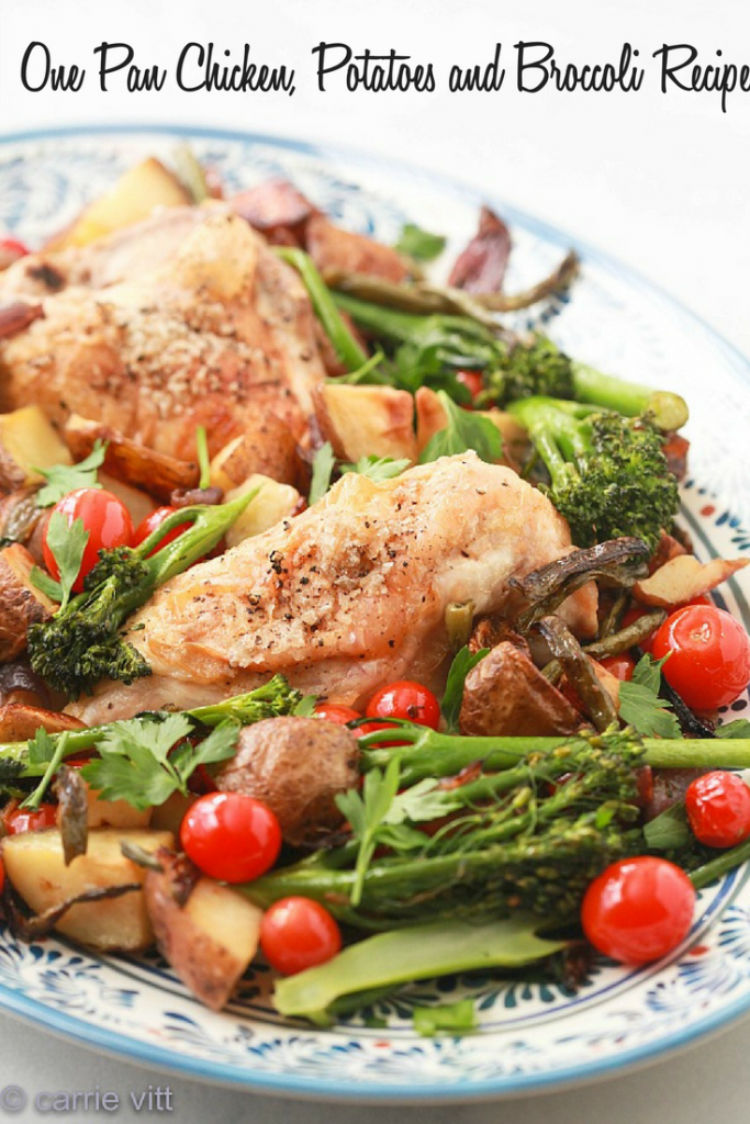 An easy one pan roasted chicken and vegetables recipe is a go-to on those busy evenings when you want dinner cooked all in one pan without any extra work.