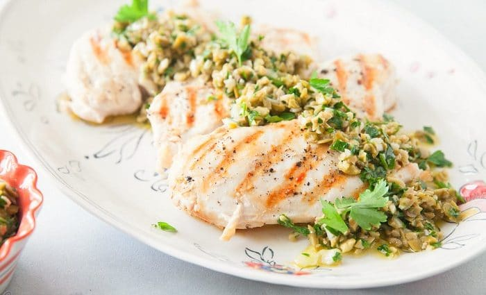Grilled Chicken with Olive Tapenade and Some Helpful Healthy Eating Tips