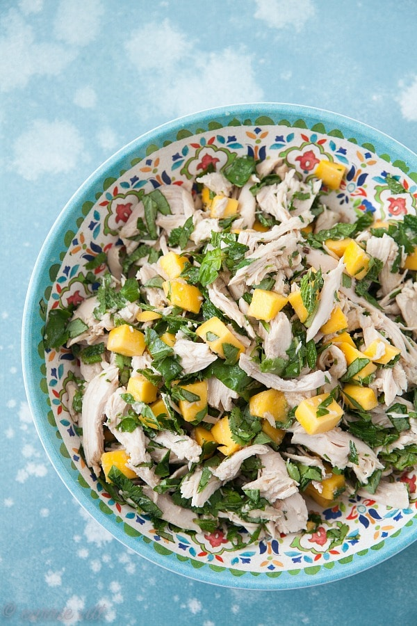 A good chicken salad with fruits and herbs is one of my favorite things to eat during the warmer months. It pairs well with other salads for a lighter meal or spooned into lettuce cups for a quick wrap.