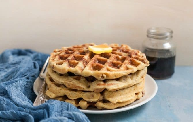 Waffles with Sausage (Grain-Free, Gluten-Free)