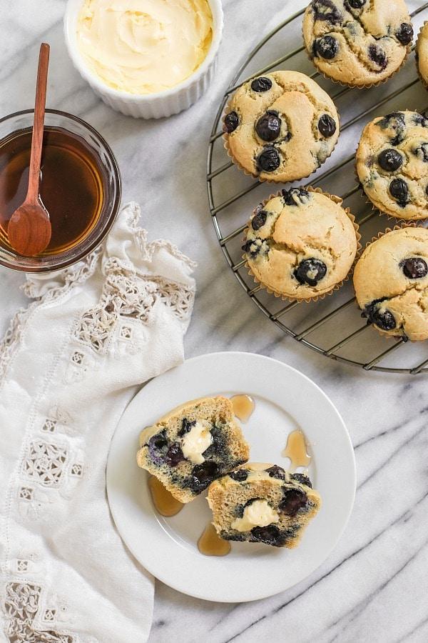 Easy Blender Blueberry Pancake Muffins (Paleo, Grain-Free)