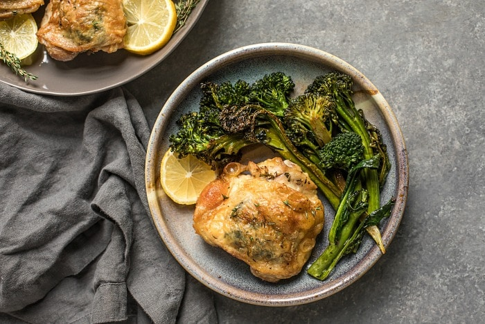 Lemon-Thyme Roasted Chicken Thighs (Grain-Free, Paleo)