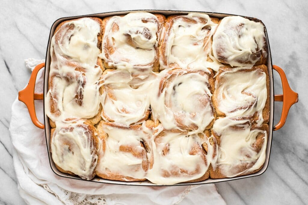 Fermented Sourdough Cinnamon Rolls