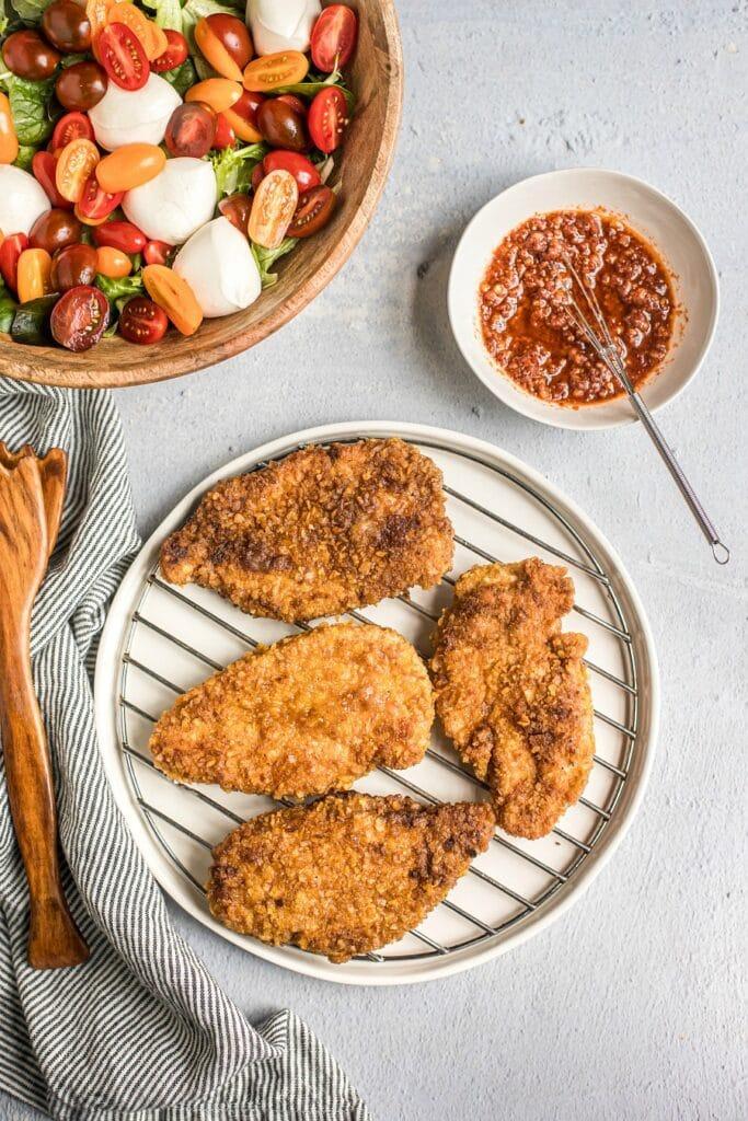 Chicken Parmesan Salad (Grain-Free)