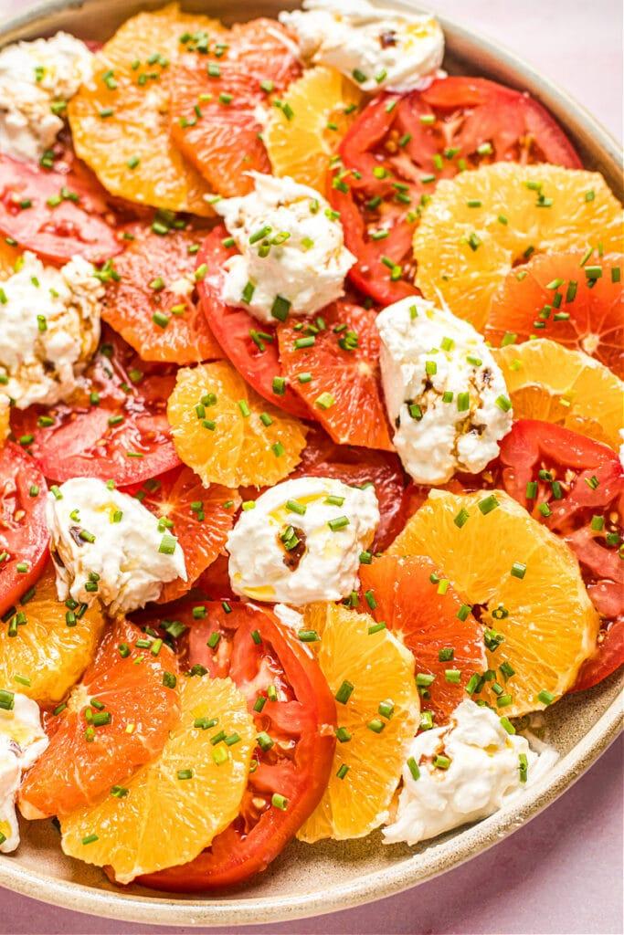 Winter Citrus Caprese Salad